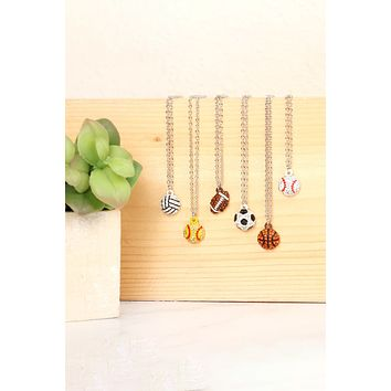 Sports Charm Necklace