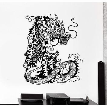 Vinyl Wall Decal Chinese Dragon Asian Style Home Decor Art Stickers Unique Gift (ig4629)