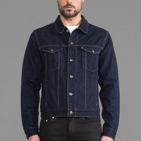LEVI'S: Made & Crafted Denim Jacket in Indigo