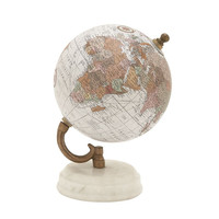 Benzara Marvelous Wood Metal Marble Globe