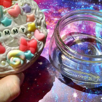 Yummy Lavender Decoden Iced Stash Jar Kawaii Alternative Cute Trinket Storage