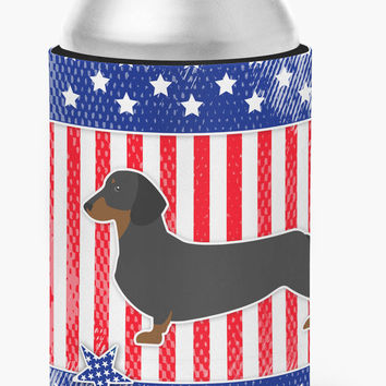 USA Patriotic Dachshund Can or Bottle Hugger BB3282CC