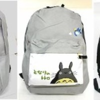 "Totoro Print 16"" Large School Back Pack New"