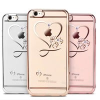 Crystal Heart Cases For iPhone 6 and 7
