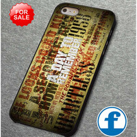 A Day To Remember Song     for iphone, ipod, samsung galaxy, HTC and Nexus PHONE CASE