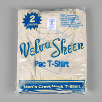 velva sheen - crew neck pocket t shirt 2 pack oatmeal heather