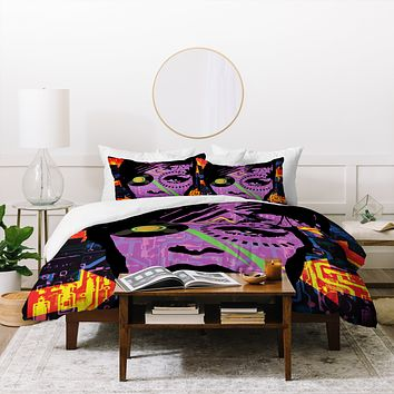 Amy Smith Purple Trial Duvet Cover