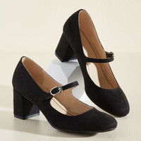 Dance Floor Doubles Heel in Black | Mod Retro Vintage Heels | ModCloth.com
