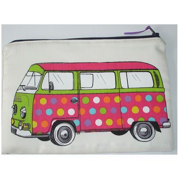 iPad Mini Case Hippy Campervan Zipped Sleeve Pouch Cover VW Camper Van