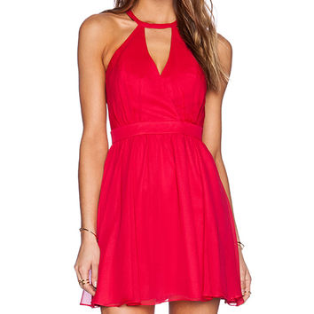 Jay Godfrey Vasser Backless Dress in Pink
