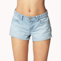 Run Free Braided Denim Shorts