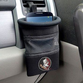 Florida State Seminoles Car Caddy Catch Organizer - Cell Phone Holder