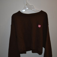 Dunkin Donuts Oversized Cropped Sweater