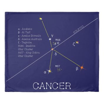 Constellation CANCER unique, impressive Duvet Cover