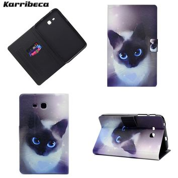 Cute Magnet PU Leather Tablet Case For Samsung Galaxy Tab 3 Lite 7.0 T110 Cover