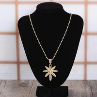 Retro Unisex Leaf Necklace Gift 15