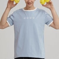 Smiley Faces Ringer Tee