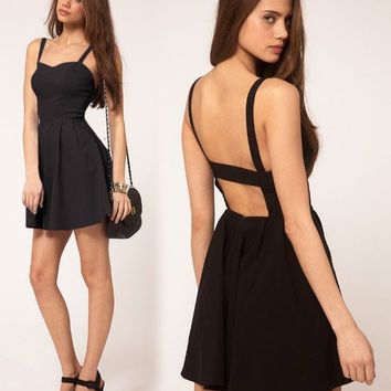 spring summer Women sexy slim party club dress Backless,skinny bandage stretched sexy sweetheart Mini dres = 5739051969