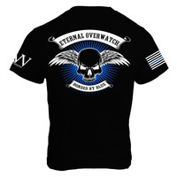 Eternal Overwatch / Thin Blue Line - Black - Mens T Shirt