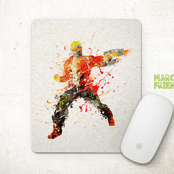 Guardians of the Galaxy Mouse Pad, Star-Lord Watercolor Art, Mousepad, Office Decor, Gifts, Art Print, Desk Deco, Avengers Accessories
