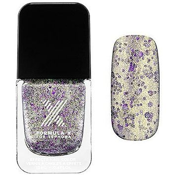 Sparklers Nail Polish Formula X for Sephora Law of Attraction - Champagne and Blue 3d Glitter