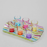 Urban Outfitters - Rainbow Shot Glass - Set Of 6
