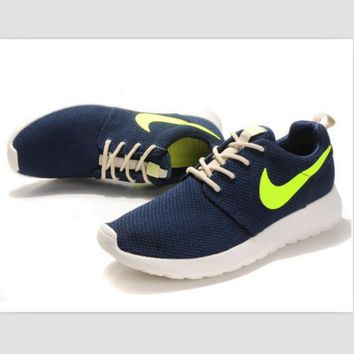 NIKE fashion network sports shoes casual shoes Dark blue and green
