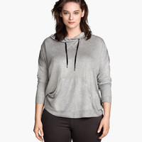 H&M+ Fine-knit Hooded Top - from H&M