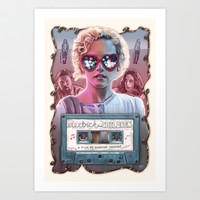 Electrick Children (full poster) Art Print by Sam Gilbey