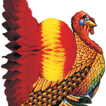 "fall/thanksgiving tissue turkey centerpiece - 9"" Case of 12"