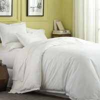 Belo White Full/Queen Duvet Cover