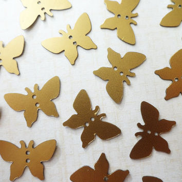 Gold butterfly sequins, 200 pcs, sewing supplies, gold butterfly, wedding invitations, birthday invitations, girl birthday, room decoration,