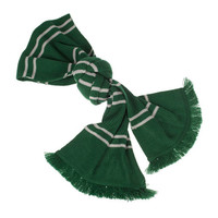 universal studios harry potter slytherin house tassels scarf new with tags