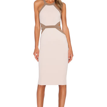 Nookie Crawford Bodycon Dress in Nude
