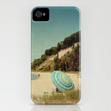 Blue Beach Umbrella iPhone Case by Joy StClaire | Society6
