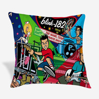 Blink 182 Band Pillow Cover