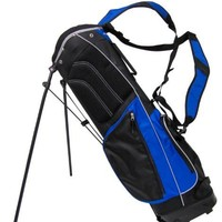 NEW! TiTech Carry Lite Full-Size Golf Stand Bag w/ Padded Shoulder Straps - Blue