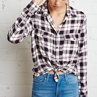 Buttoned Plaid Shirt