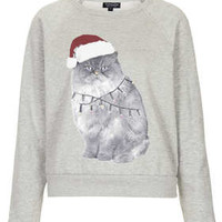 CHRISTMAS CAT SWEAT