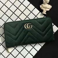 GUCCI  Women Zipper Purse Wallet Satchel Bag G-LLBPFSH