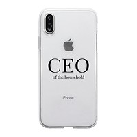 CEO Of The Household Clear Phone Case Funny Mom Gift For Christmas