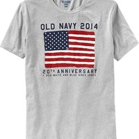 Old Navy Mens 2014 Flag Tees Size XL Tall - Light gray
