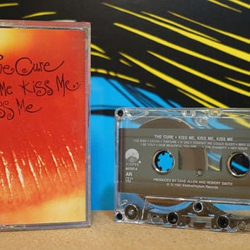 Kiss Me Kiss Me Kiss Me by The Cure Vintage Cassette Tape