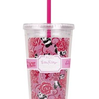 Alpha Omicron Pi Tumbler with Straw by Lilly Pulitzer