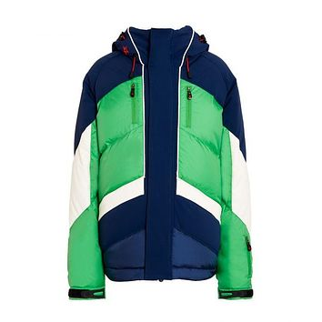 Perfect Moment - Kids' Padded Chevron Nordic Green Navy Snow White Jacket
