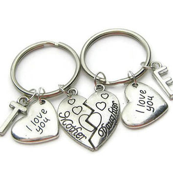 2 Mother Daughter Keychains, Mother Daughter I Love You Keychains, Mother Keychain, Daughter Keychain, Mother Daughter Gift, Personalized
