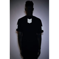 Threadworkshop - 3M Long Tail Tee - 3M Reflective Army / Black