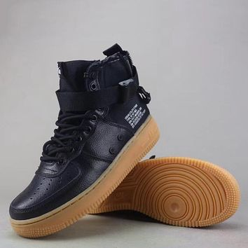 Trendsetter Nike Air Force 1 Mid  Women Men Fashion Casual High-Top Shoes