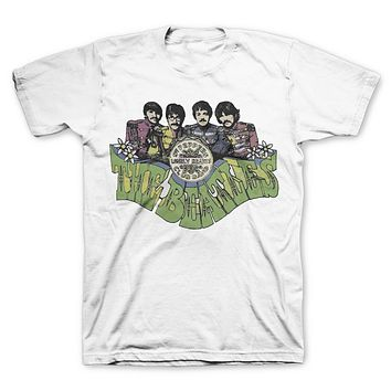 The Beatles Sgt Pepper Seal - Mens White T-Shirt
