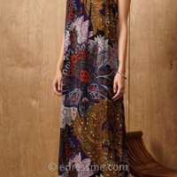 Floral Strappy Maxi Dress by Greylin
